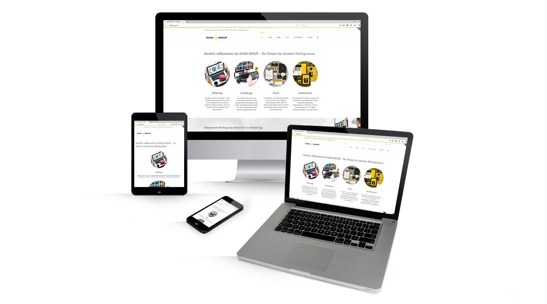 Responsive Webdesign (Webseite angepasst für alle mobilen Endgeräte)